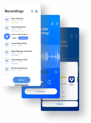 Voice Recorder App | Audio Recording App - Rev