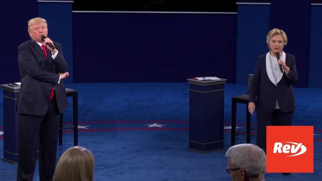 Donald Trump vs. Hillary Clinton 2nd Presidential Debate Transcript 2016