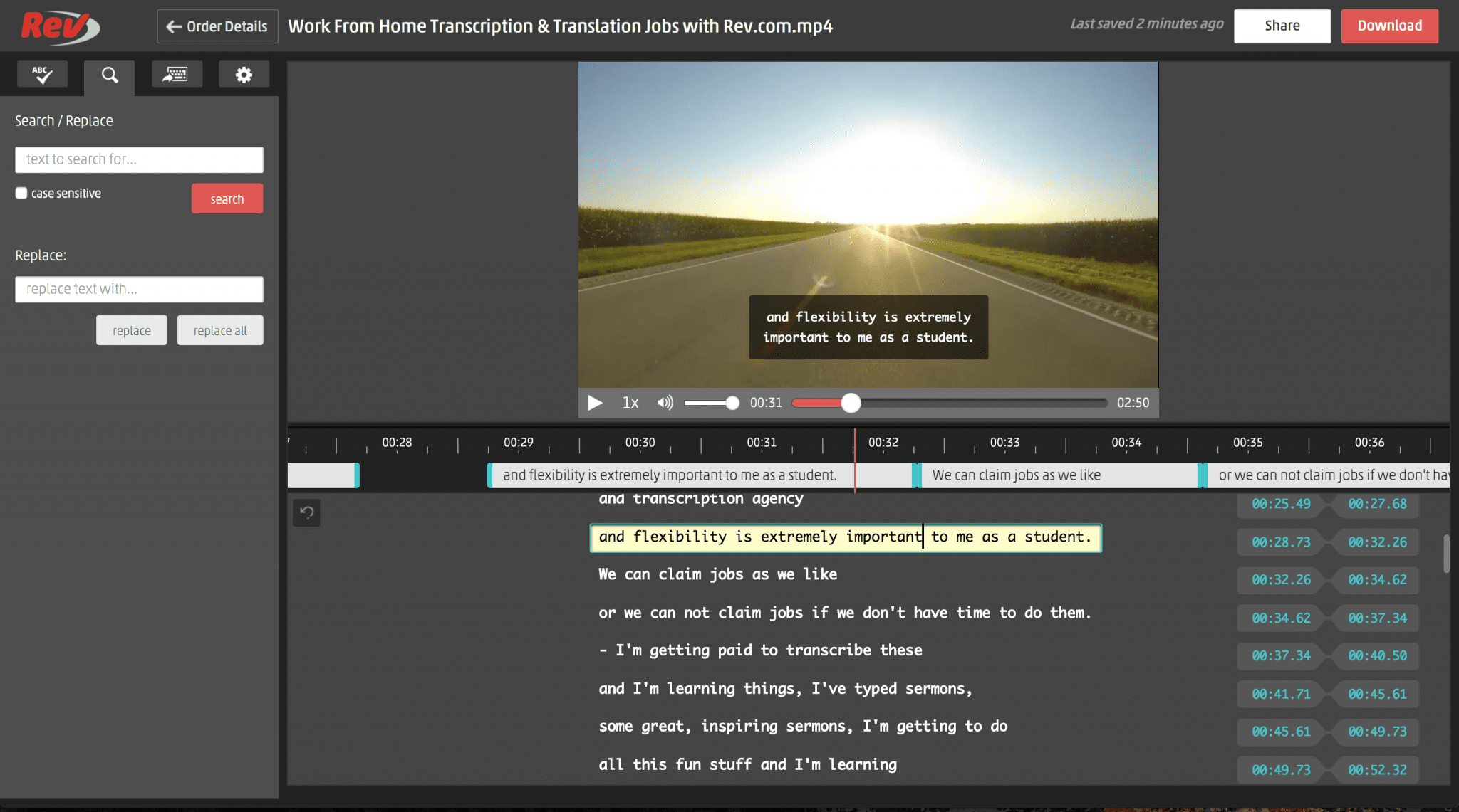 Rev Video Captions Editor