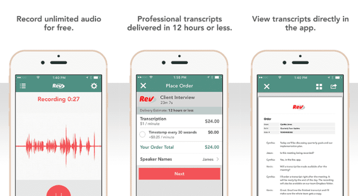 Rev Voice Recorder Screenshots