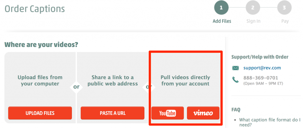 pull videos directly from your YouTube account