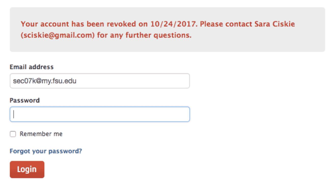 Rev revoked user notification