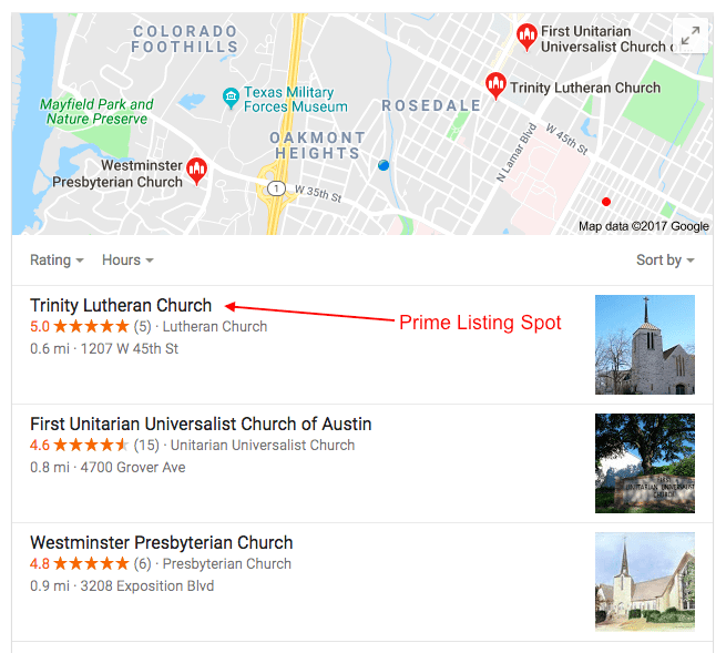 local SEO Google listing