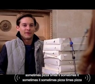 Pizza Delivery Caption