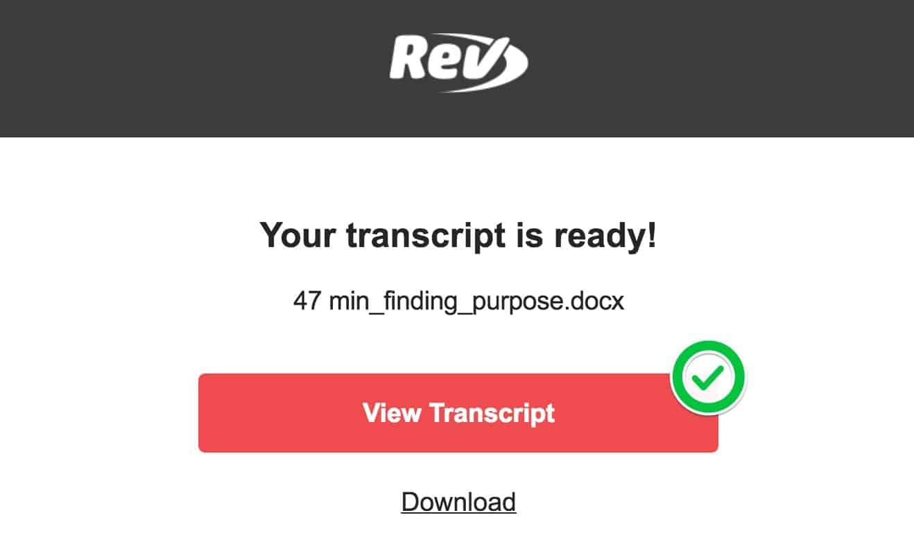 "Click ""View Transcript"" to open your transcript directly in your browser"