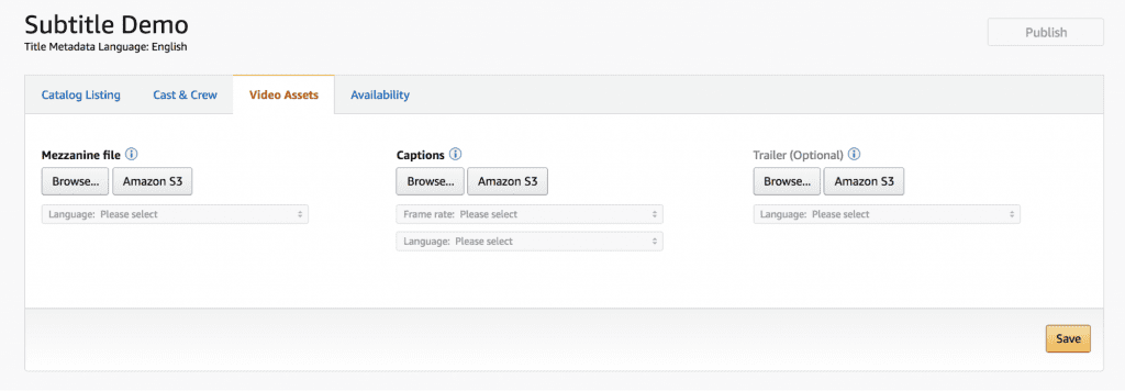 Add Subtitles to Video in Amazon Direct