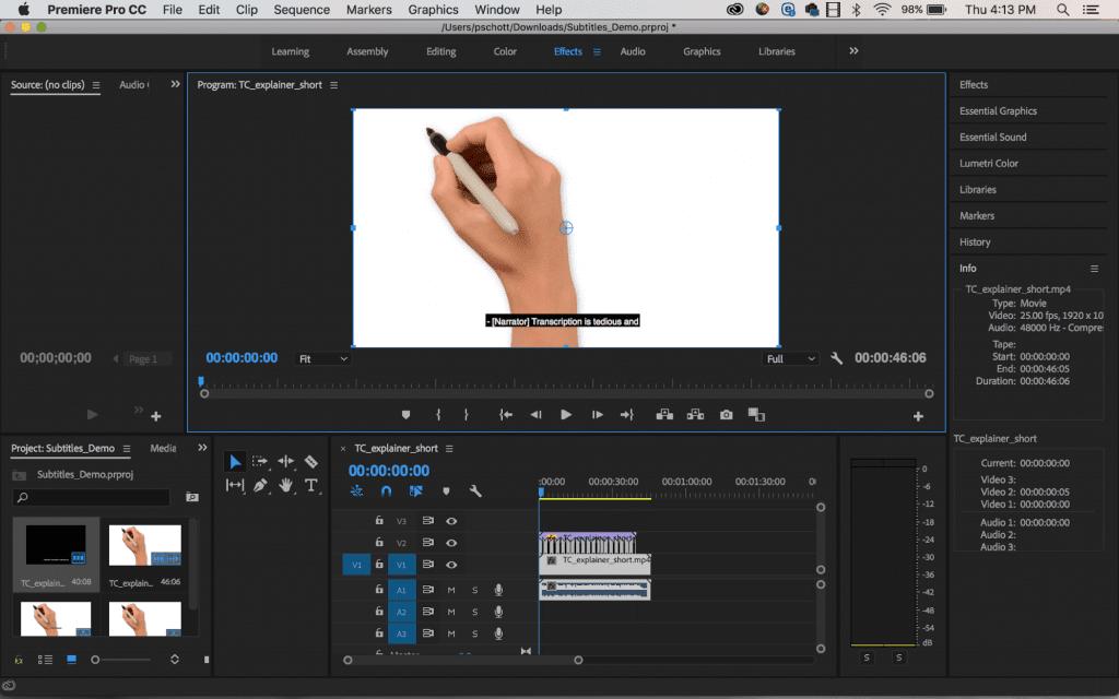resize captions adobe premiere pro
