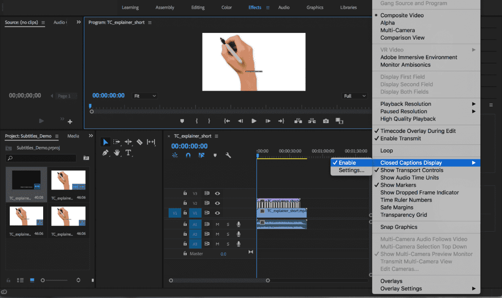 How to Upload Captions and Subtitles in Adobe Premiere Pro and