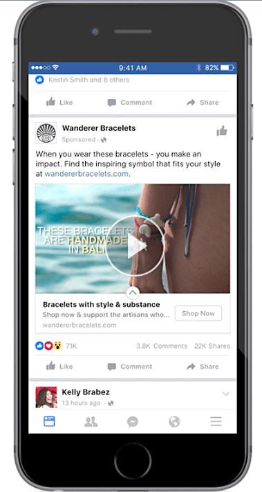 Wander Bracelets video ad campaign screen shot