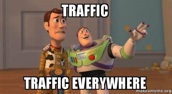 Toy Story traffic everywhere meme