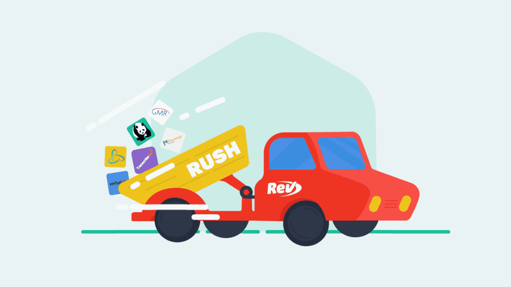Illustration of Rev Rush truck dumping competitors out