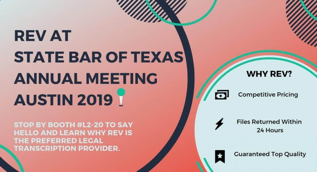 Rev at State Bar of Texas Annual Meeting in Austin 2019