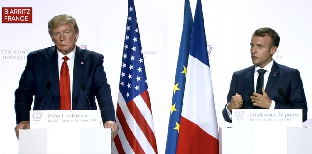 Trump Macron G7 News Press Conference Transcript