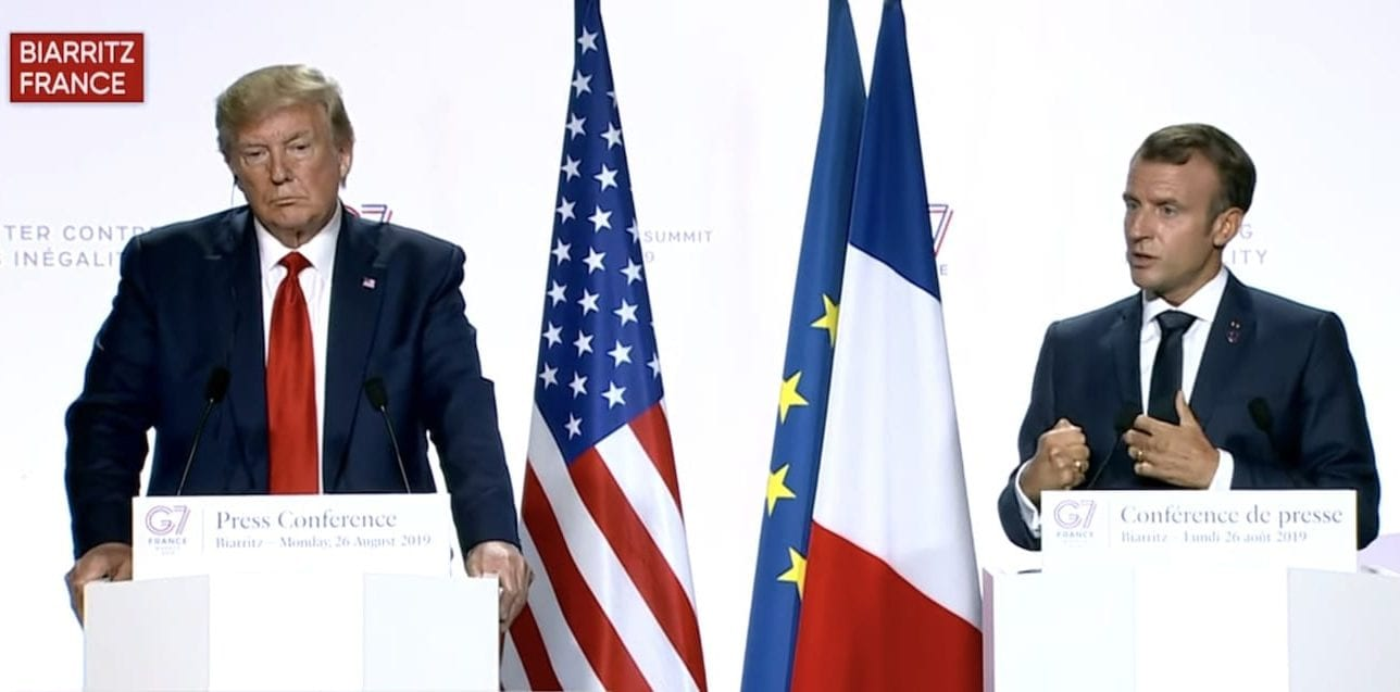 Transcript Donald Trump Emmanuel Macron G7 Press Conference Speeches Rev