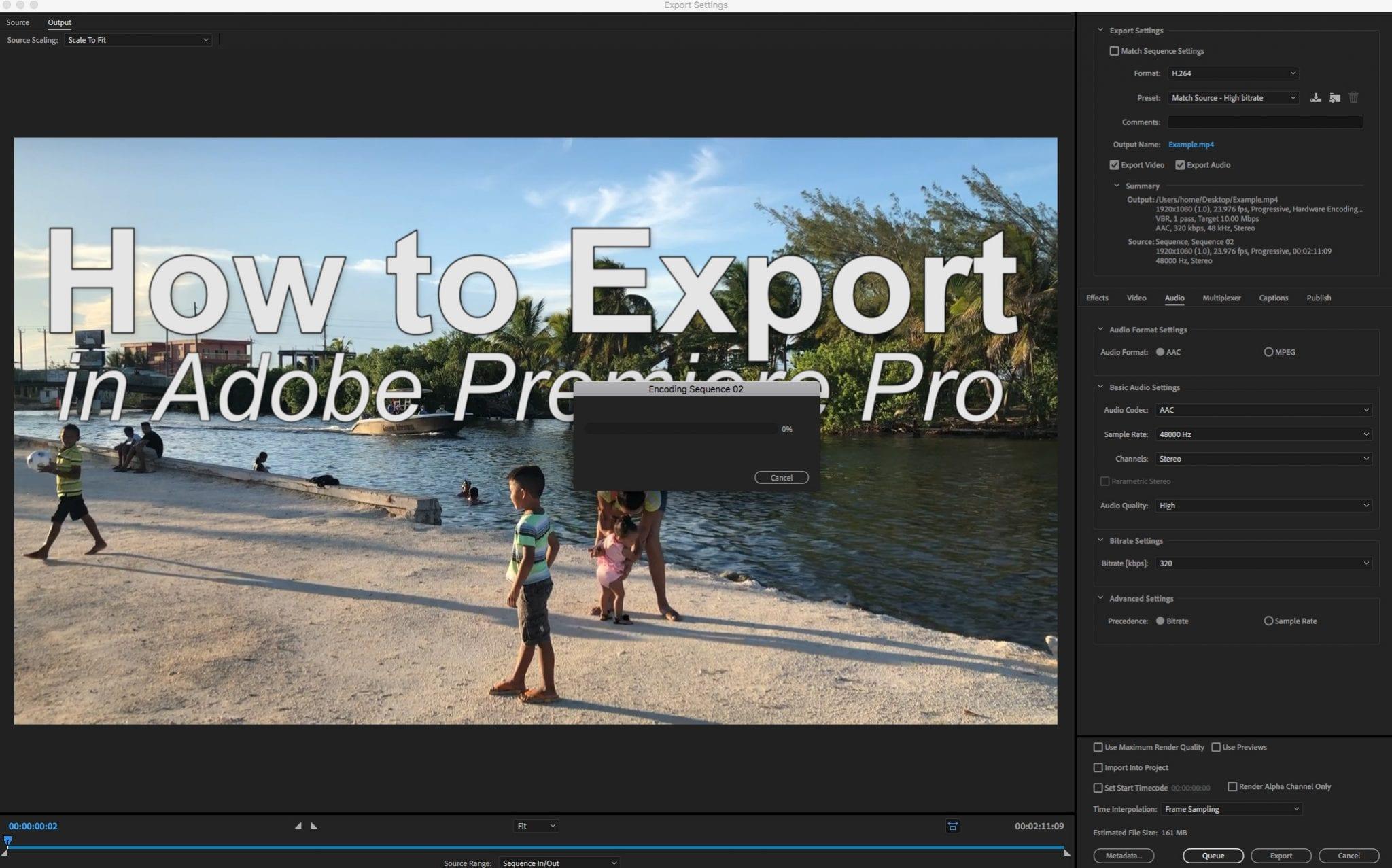 Click Export Premiere