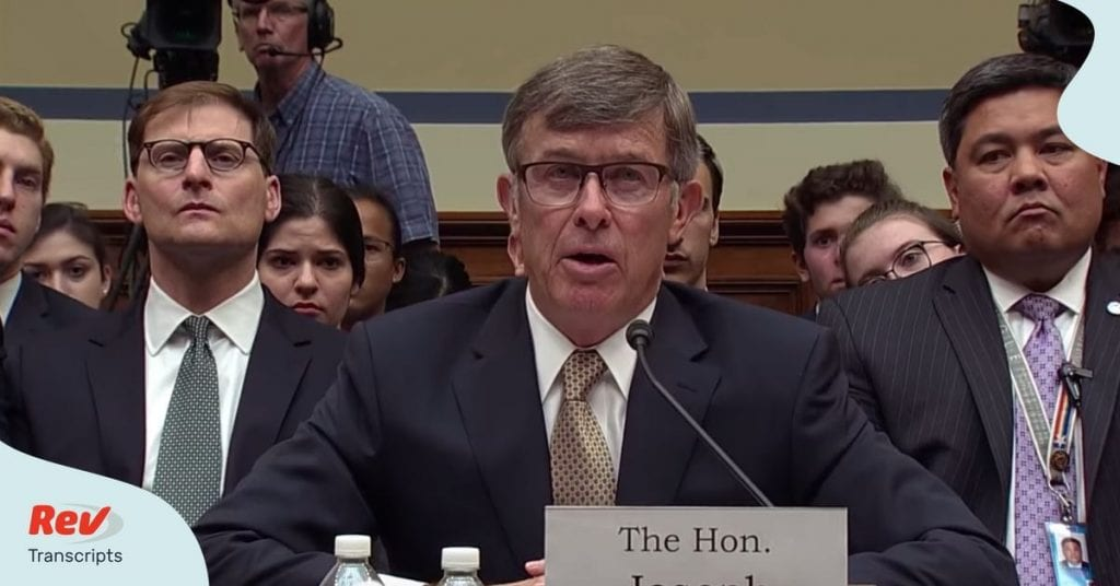 Joseph Maguire DNI Intelligence Chief Testimony Transcript