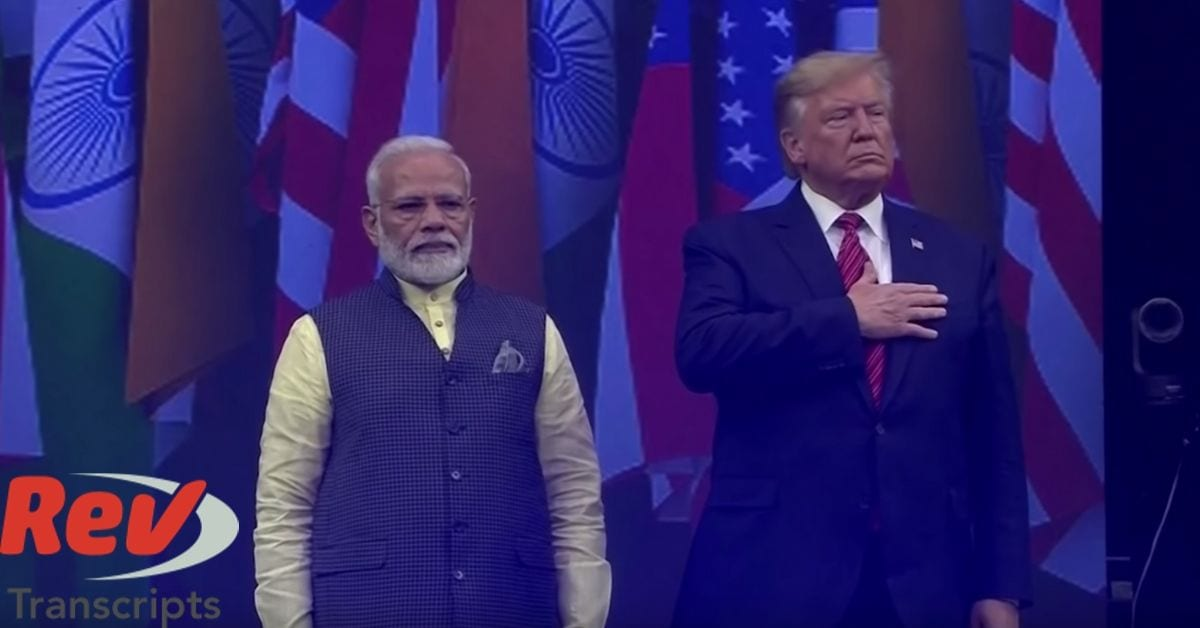 Donald Trump Narendra Modi Houston Texas Rally Transcript