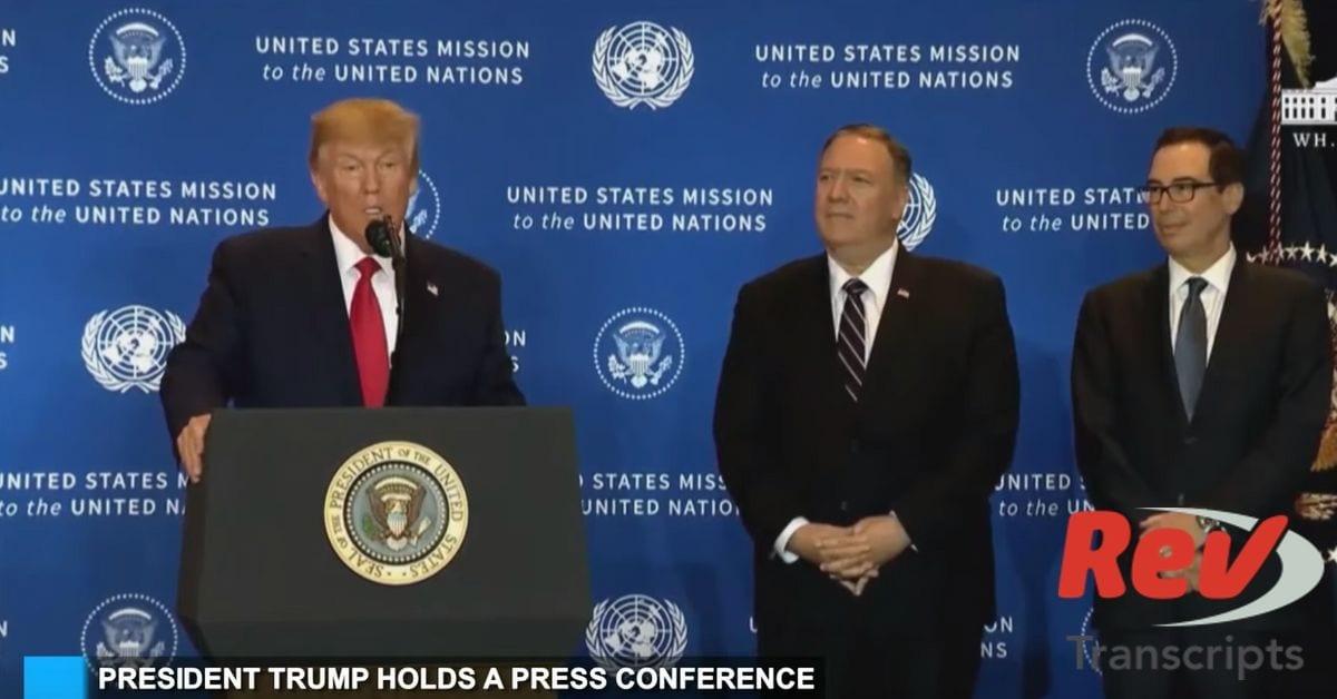 Donald Trump Press Conference Transcript Ukraine Impeachment Inquiry