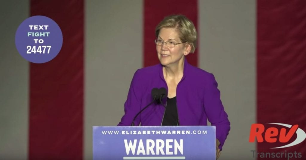 Elizabeth Warren New York City Rally Transcript September 16