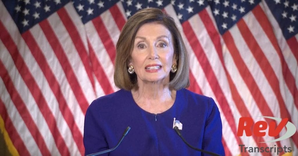 Nancy Pelosi Impeachment Statement Transcript
