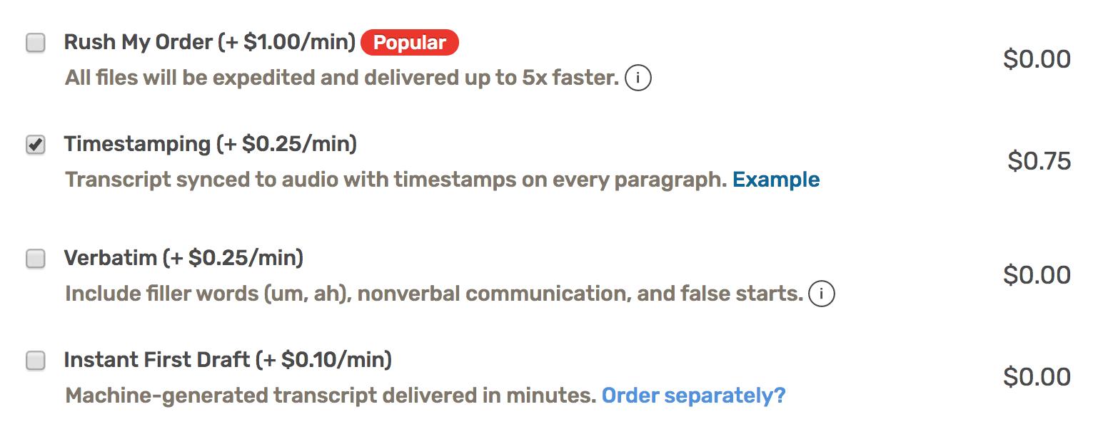 Timecoding Timestamping