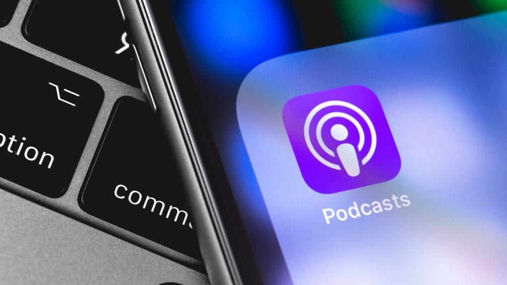 Apple Podcast audio transcript search in iOS 13 and desktop.