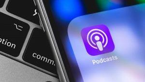 Apple Podcast audio transcript search in iOS 13 and desktop.