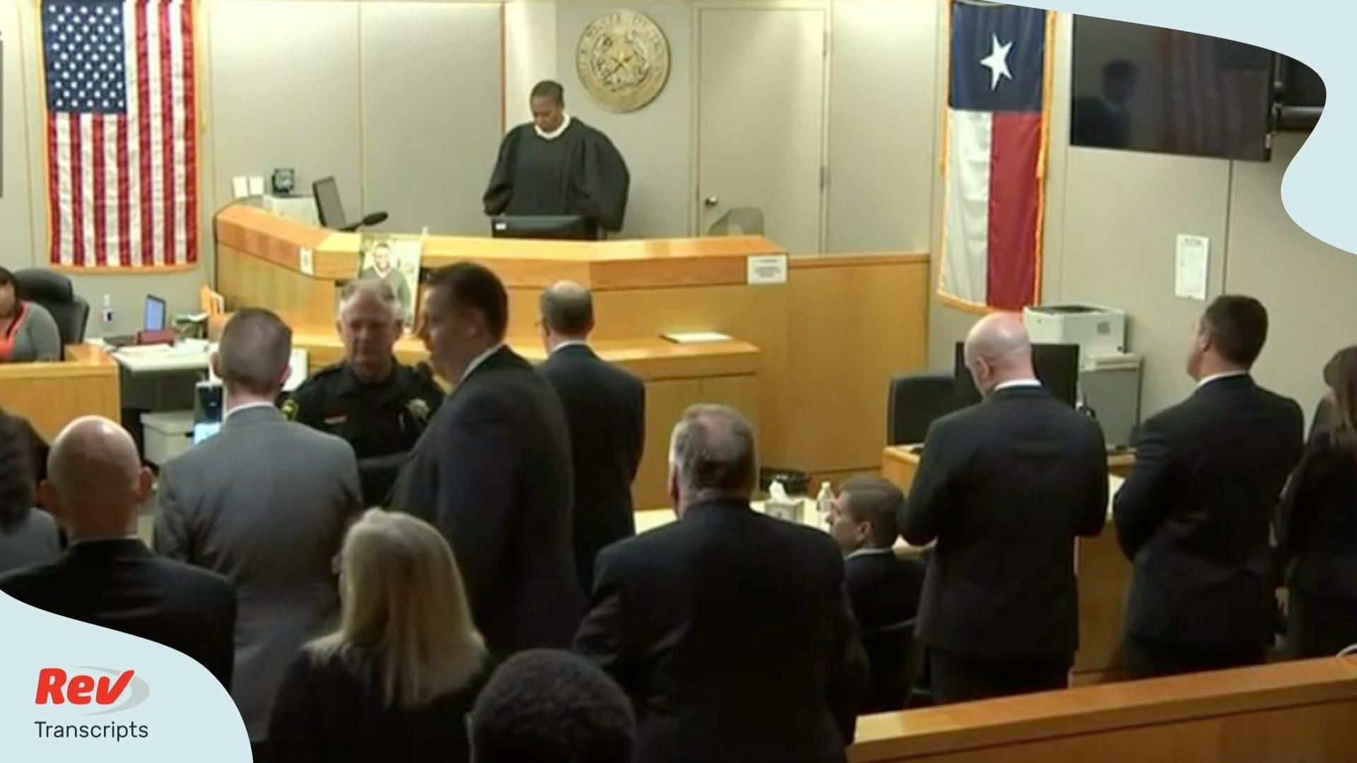 Amber Guyger Sentencing Transcript
