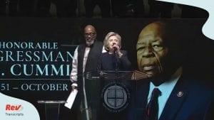 Elijah Cummings Funeral Euology Transcript Hillary Clinton Obama Pelosi