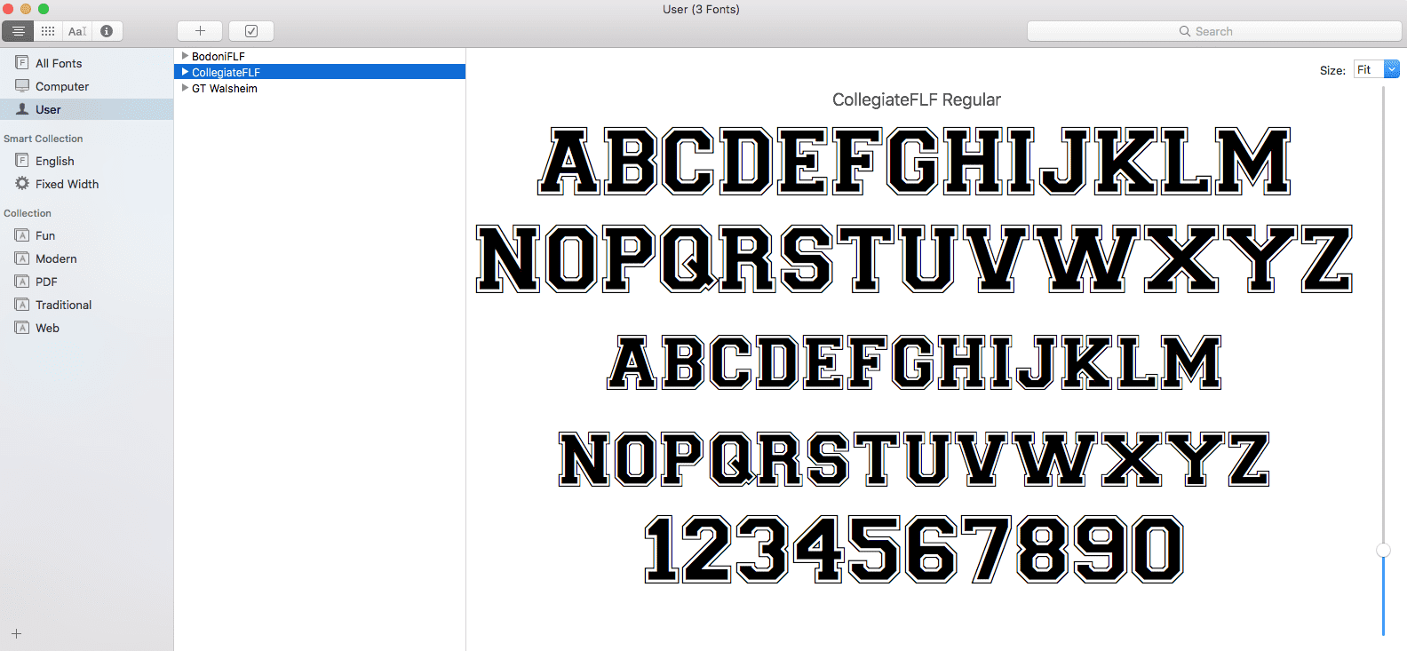 Installed Font Mac