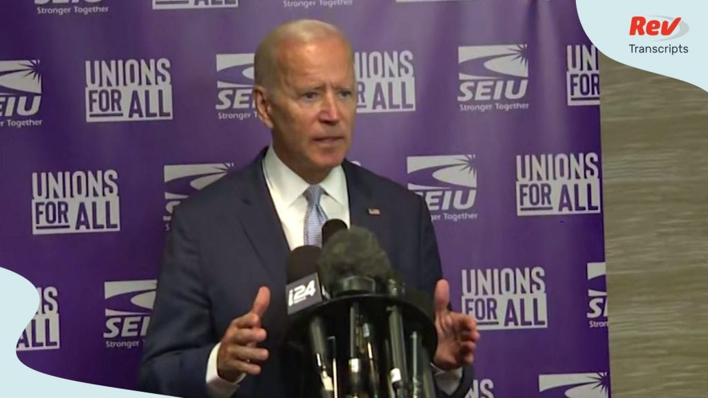 Joe Biden Press Conference Transcript - Biden Fires Back at Trump