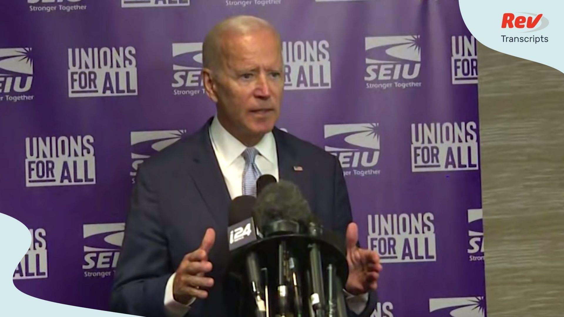 Joe Biden Press Conference Transcript - Biden Fires Back at Trump