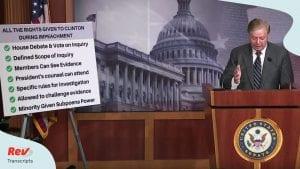 Lindsey Graham Press Conference Speech Transcript Impeachment Resolution