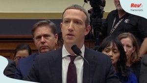 Mark Zuckerberg Testimony Transcript Libra