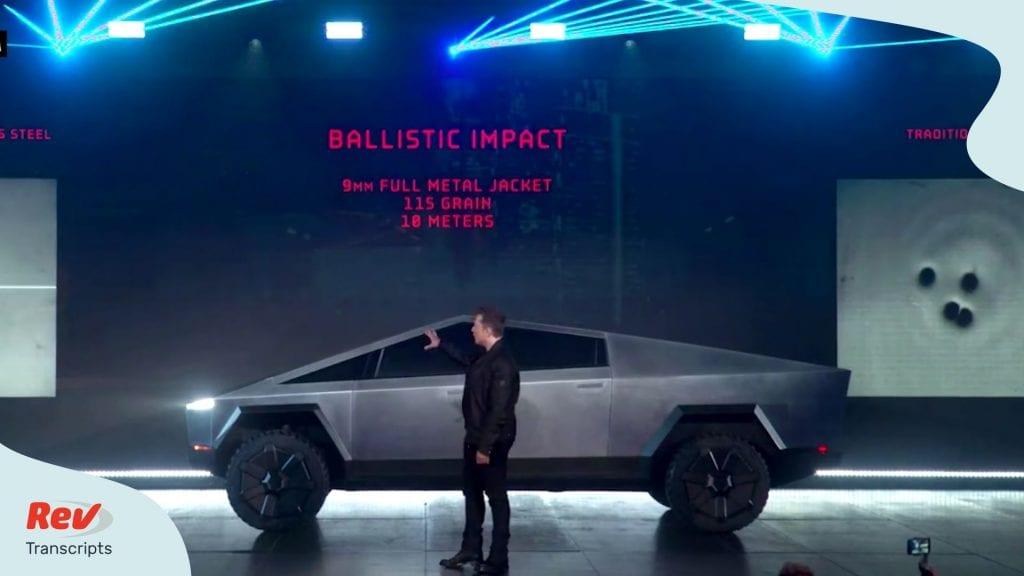 Tesla Cybertruck Event Transcript Elon Musk