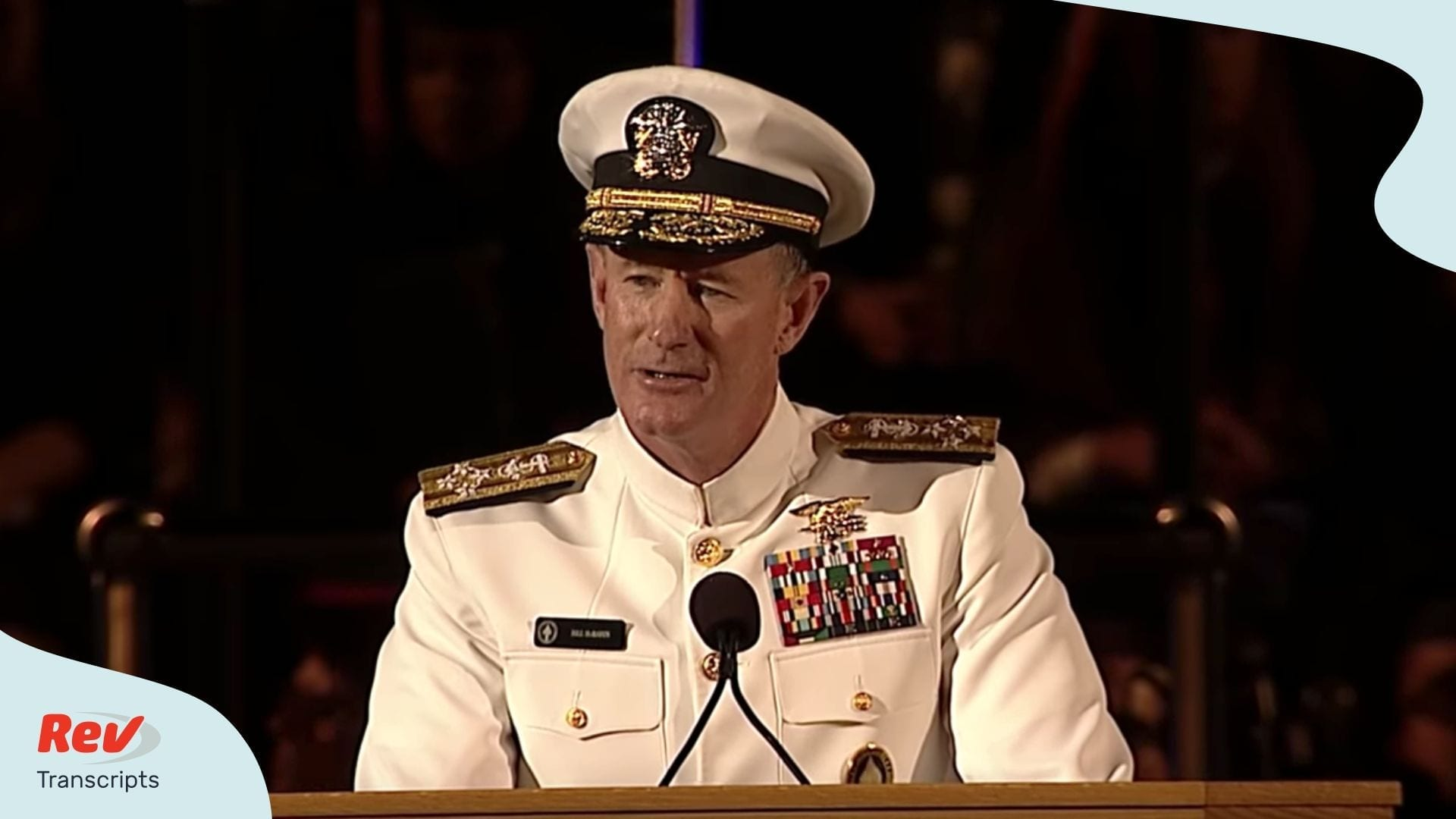 Admiral William H McRaven Commencement Speech Make Your Bed Transcript