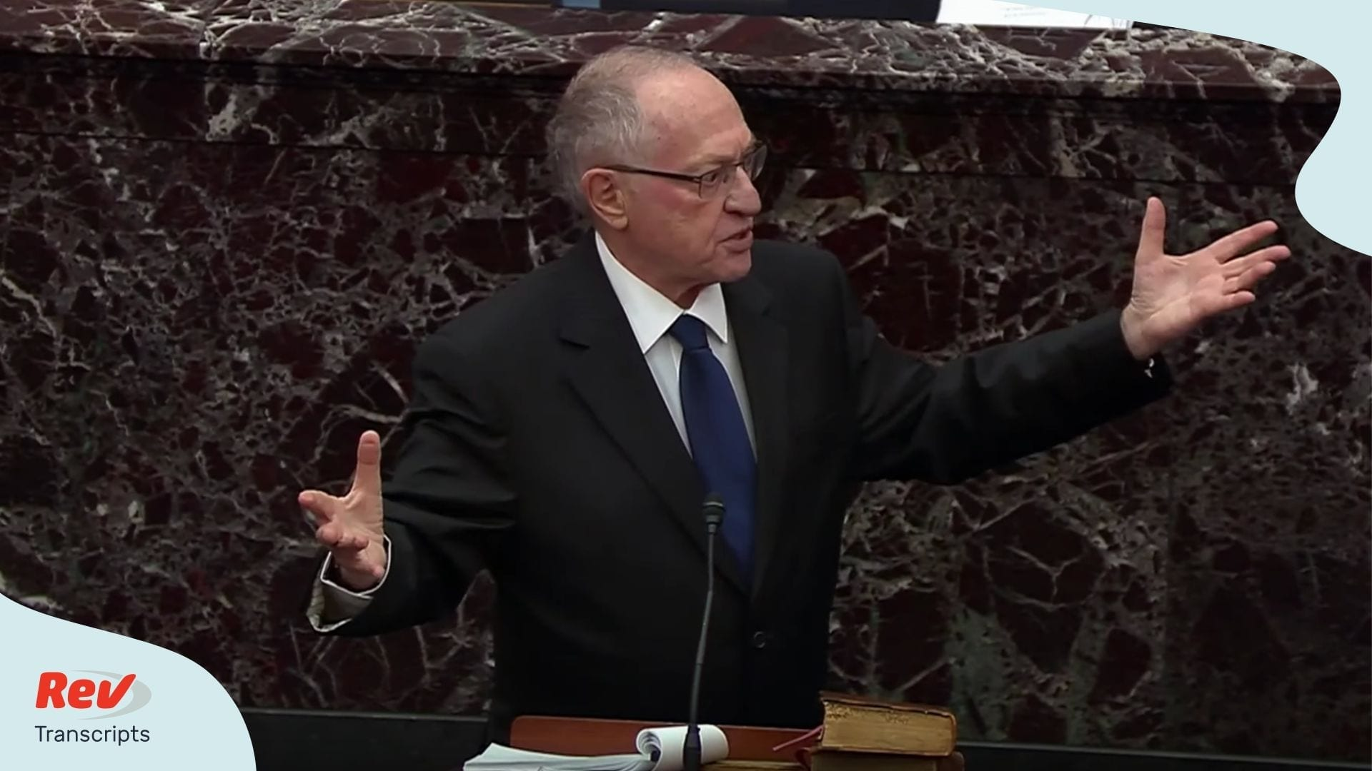Alan Deshowitz Defense Trial Trump Impeachment Transcript