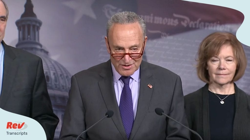 Chuck Schumer Press Conference Transcript Impeachment Trial January 25
