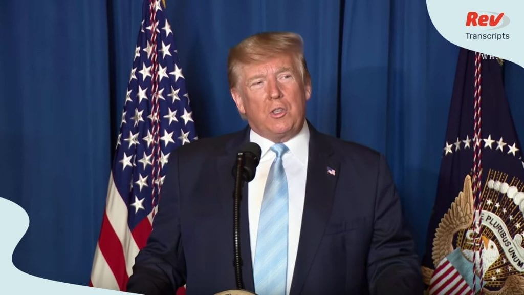 Donald Trump Iran Statement Speech Transcript Trump Orders Strike on Qasem Soleimani