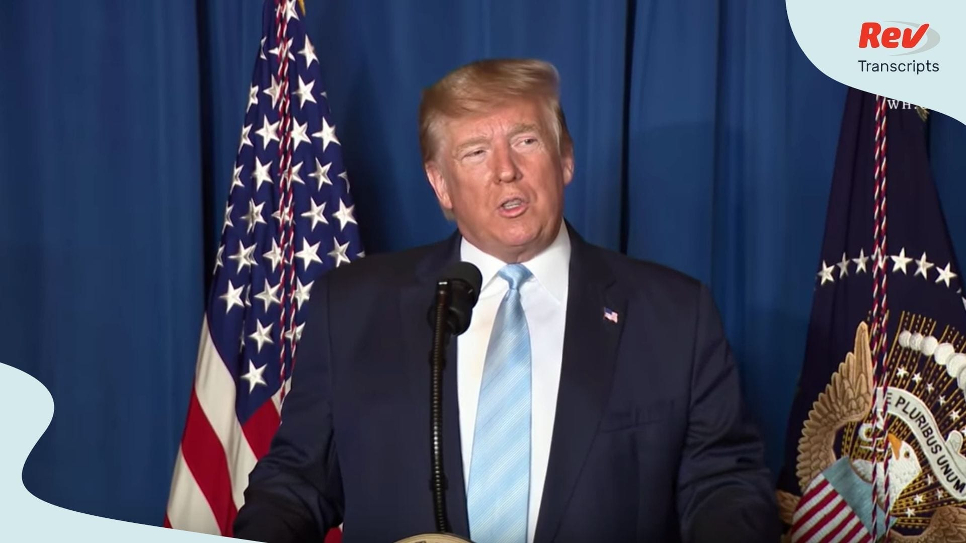 Donald Trump Iran Statement Speech Transcript Trump Orders Strike on Qasem Soleimani