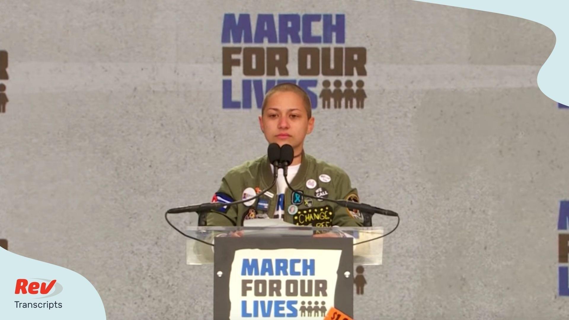 Emma Gonzalez Speech Transcript March for Our Lives
