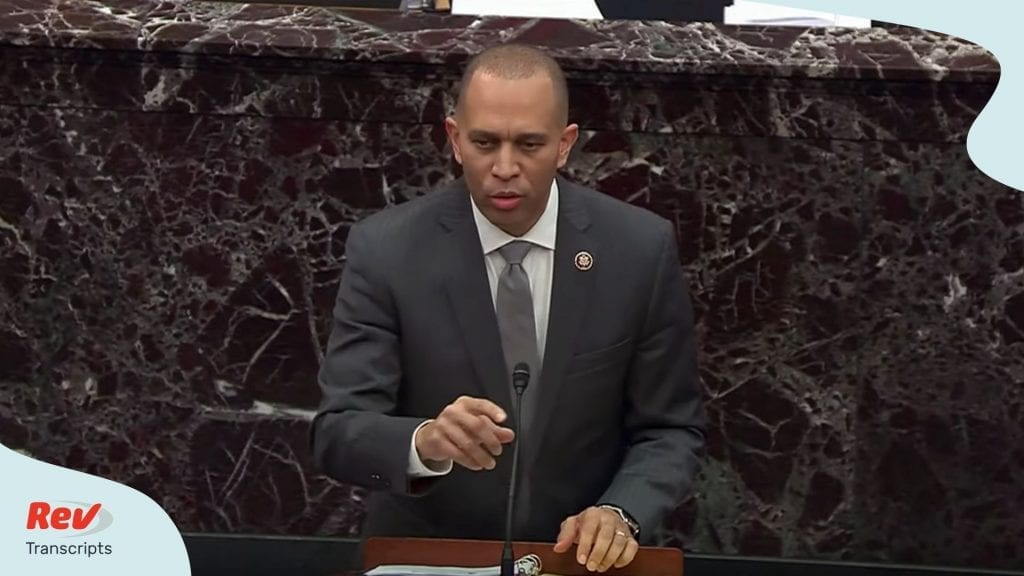 Hakeem Jeffries Opening Argument Transcript Impeachment Januay 24
