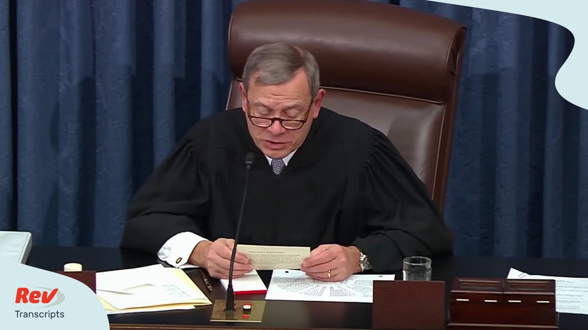Impeachment Trial Q&A Day 2 January 30 2020 Transcript