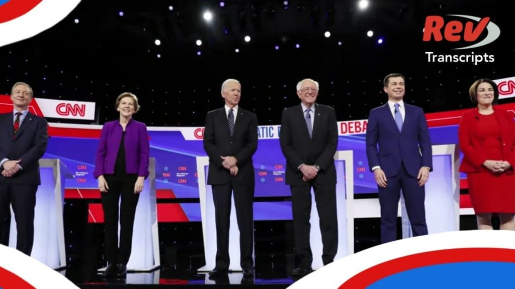 January Iowa Democratic Debate Transcript