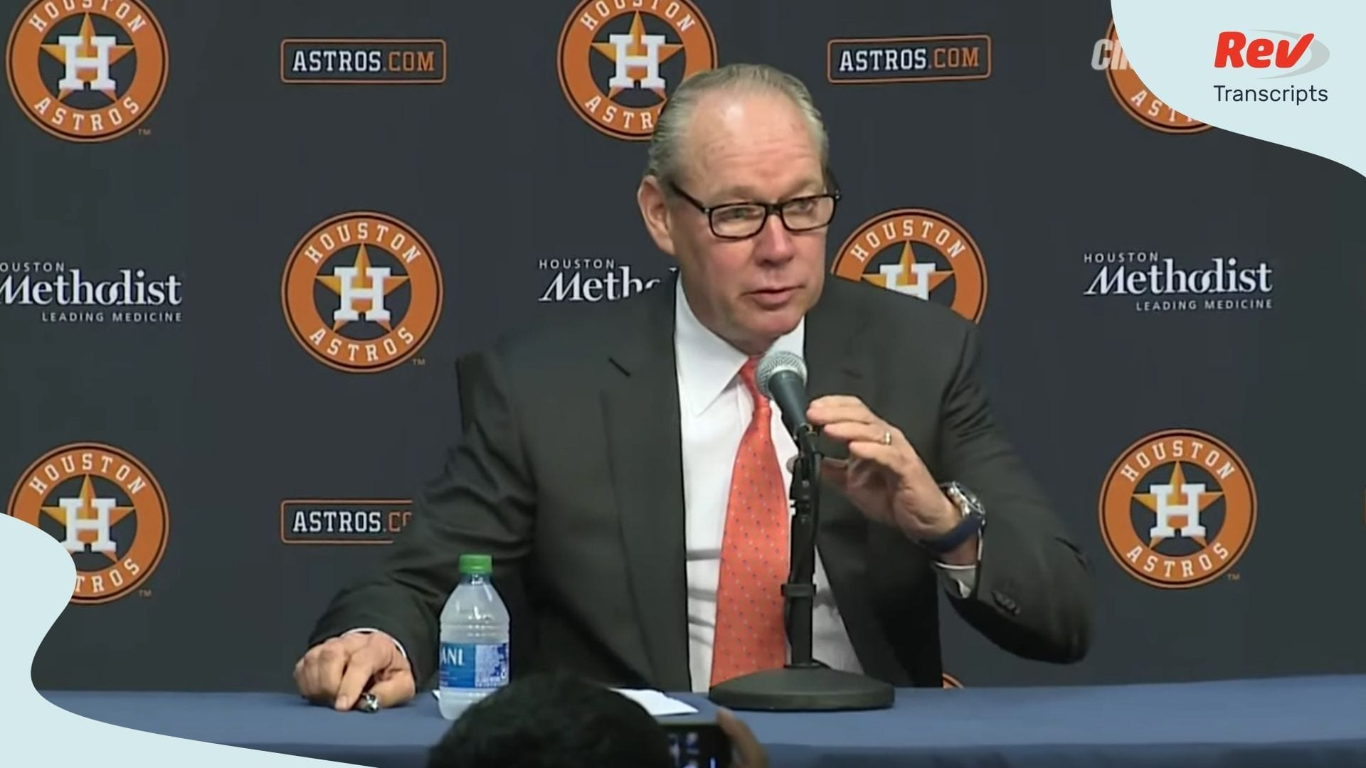 Jim Crane Press Conference Transcript Houston Astros Cheating Sign Stealing Scandal