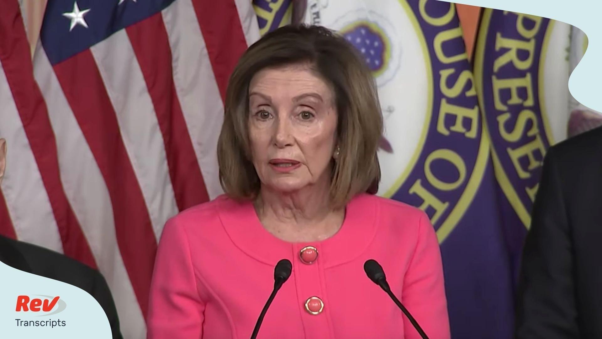 Nancy Pelosi Impeachment Manager Announcement Transcript