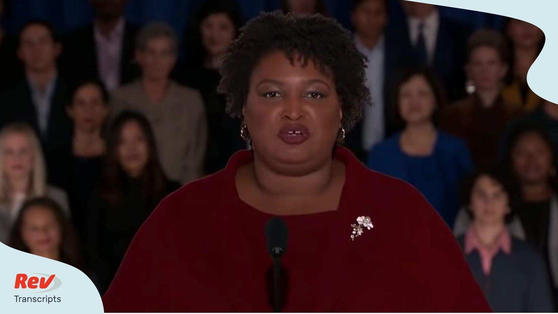 Stacey Abrams Speech Transcript Democratic Response