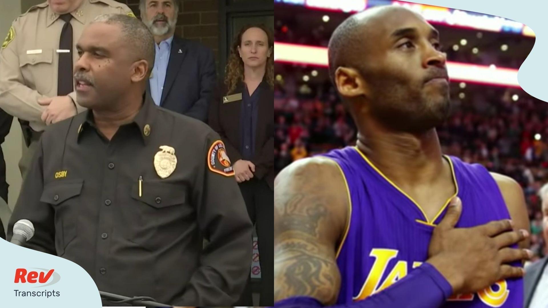 Transcript Los Angeles Officials Public Address Kobe Bryant Death