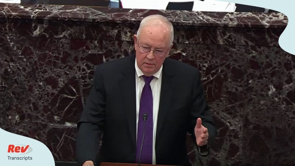 Trump Lawyer Defense Argument Impeachment Ken Starr