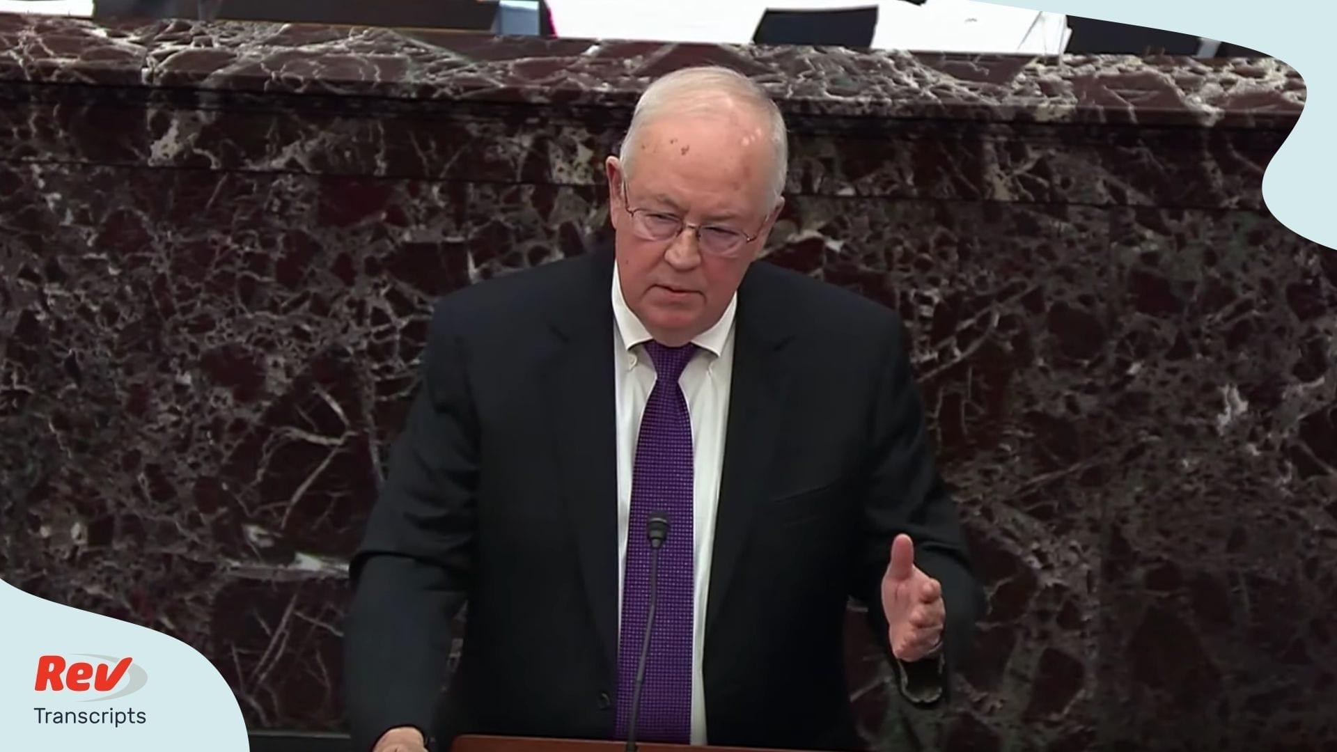 Trump Lawyer Defense Argument Impeachment Ken Starr